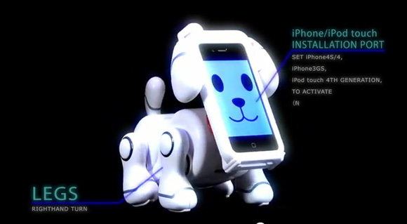 Take Your Relationship With Your iPhone To Strange New Levels With Bandai's Smartpet App and Robot Dog Body
