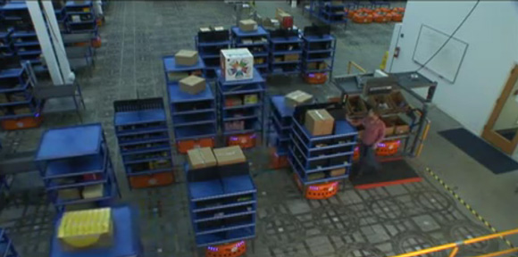 Amazon Buys Robot Company for $755M Reducing Warehouse Staff's Duties to Standing Still and Pushing Pretty Red Buttons