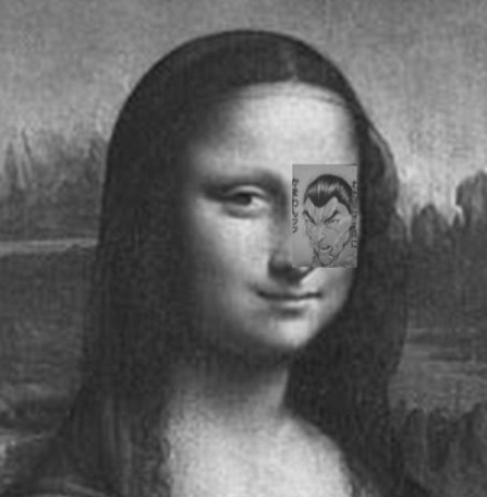 It's a perfect match! Amazing trick of the eye lets you substitute a part of Mona Lisa's face with manga drawing – and still see her face!