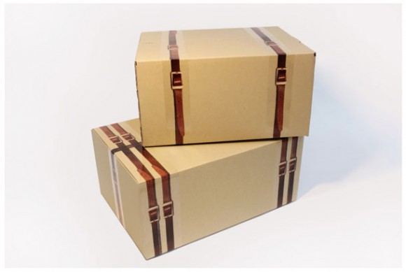 Pack Your Boxes With Style: X Tape Gussies Up Plain Cardboard