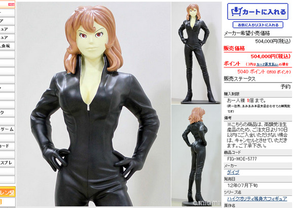 Life-sized Anime Figure Draws Criticism for Price, Creepy Face