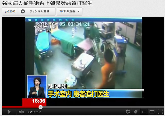 Meanwhile in China, Butt-Kicking Patient Makes Surgery Tough (Video)