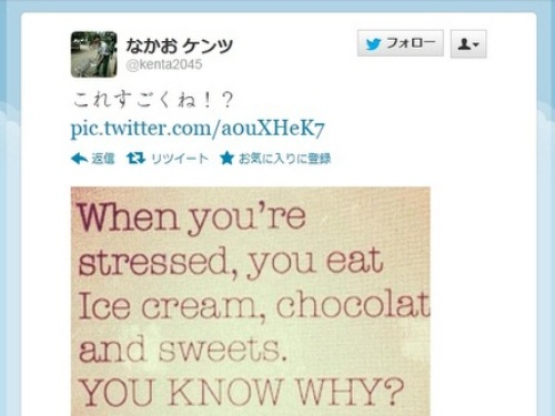 No wonder We Crave Sweets Under Stress! Twitter Post Offers Linguistic Proof that Stress Causes Craving for Sweet Foods