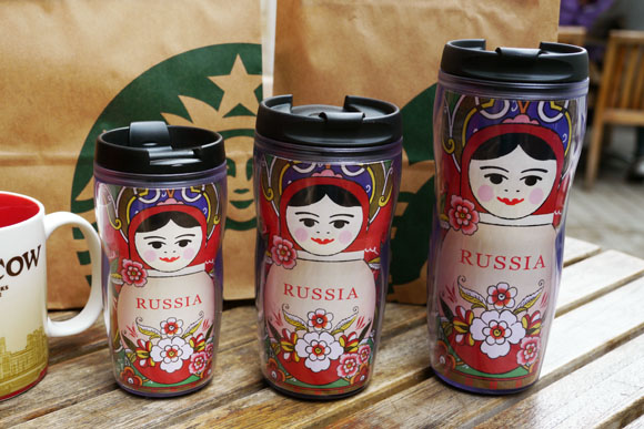 From Starbucks Russia With Love: Cute Nesting Doll Tumblers!