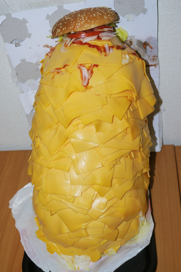 This is What a Whopper With 1000 Slices of Cheese Looks Like
