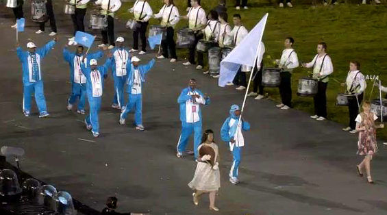Somalian Olympic Team Cosplays as Doraemon During the Opening Ceremony