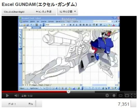 How Would You Like to Draw a Picture of Gundam – Using Excel?