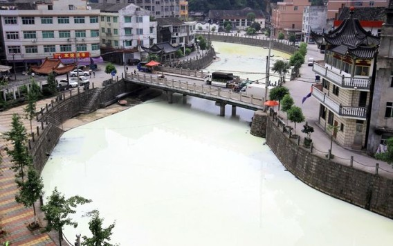 Company Accidently Recreates Milky Way Using a River in China