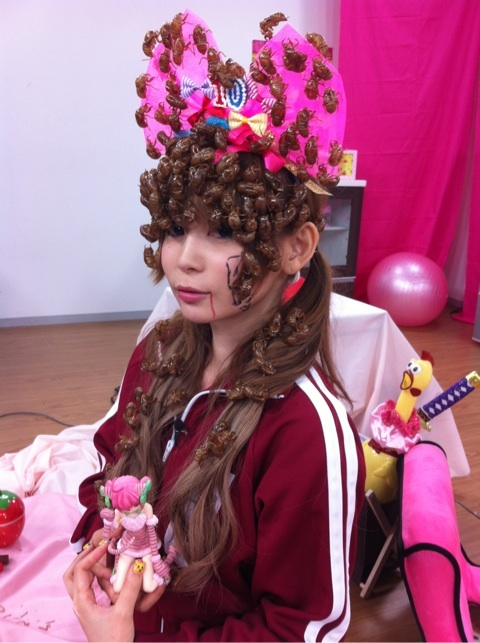 Molted Insect Skins Are so in This Summer: Japanese Entertainer Shokotan Sports Exotic Headwear