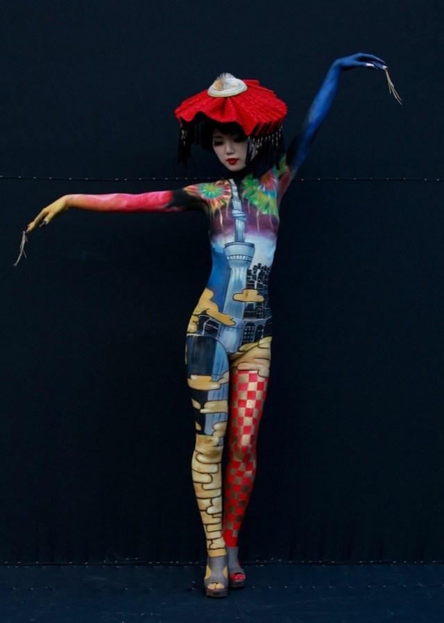 Walking, Talking Works of Art at South Korean Body Painting Festival