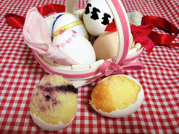 Eggshell in Your Cake Got You Down?  Try Baking the Entire Cake in an Eggshell Instead!