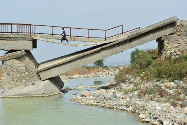 Heavily Damaged Bridge on the Verge of Total Collapse, Residents Use Daily