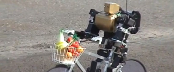 Cute Bipedal Robot Rides a Bike All By Itself