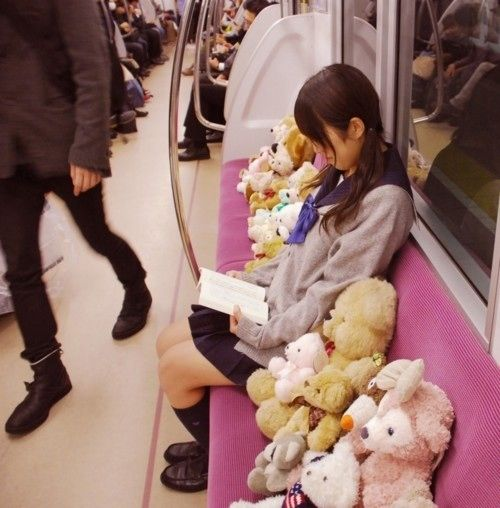 Scenes from the Trains of Japan: Pigeons, Gas Masks, and Sleeping, Oh the Sleeping