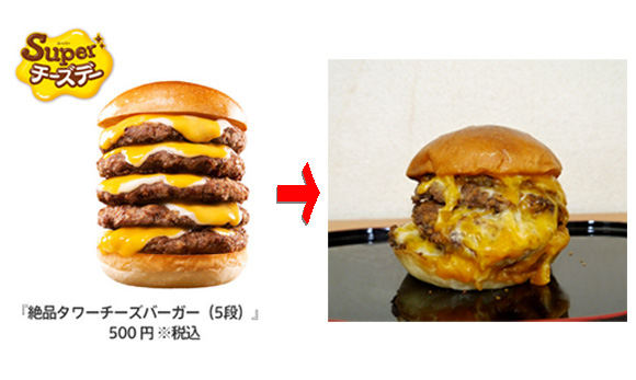 Lotteria's Tower Cheese Burger: The Reality of Five Patties Covered in Melted Cheese