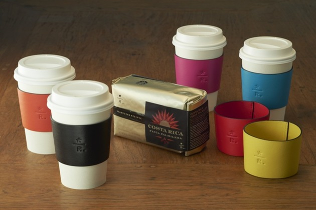 Starbucks Japan Unveils Posh Leather Cup Sleeves as Part of Charity Drive
