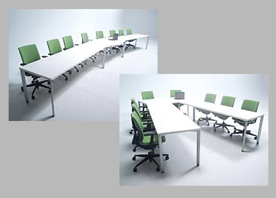 Office Meeting Room Desk that Charges Mobile Devices Developed