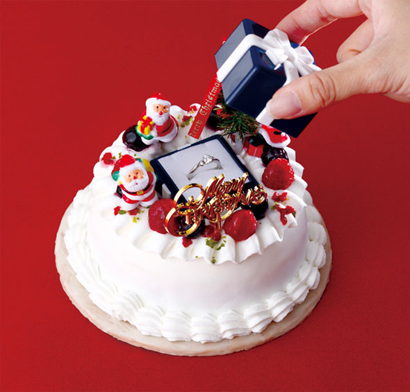Cold Stone Japan Creates Christmas Cake That Pops the Question