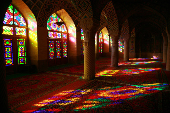 The Breathtaking Allure of the Stained Glass of Nasir al- Mulk Mosque in Iran