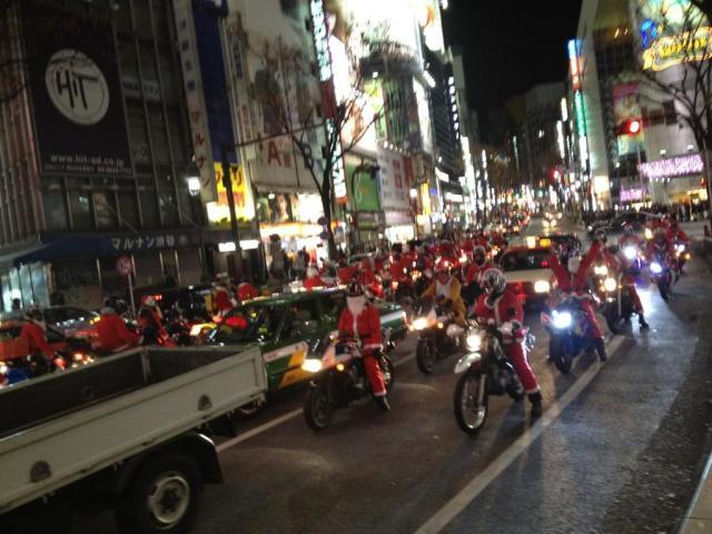Santa Biker Gang Spotted in Tokyo