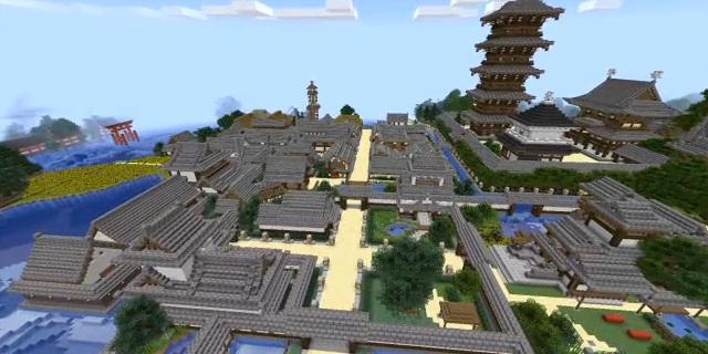 Minecraft User Decides to Make Kinkakuji, Eventually Creates the Entire City of Kyoto