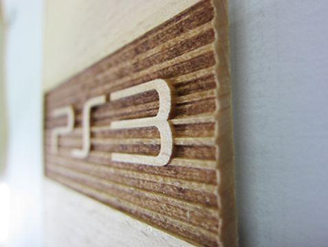 Playstation3 bento box in wood