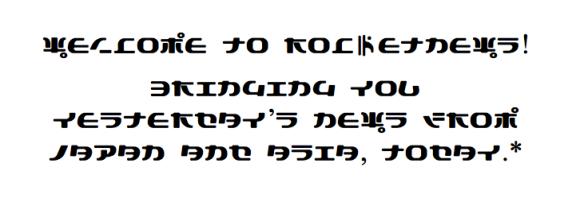 Japanese-inspired font