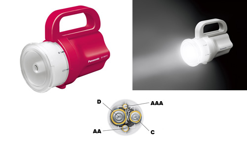 Panasonic Develops Emergency Flashlight That Works on Any Size of Battery