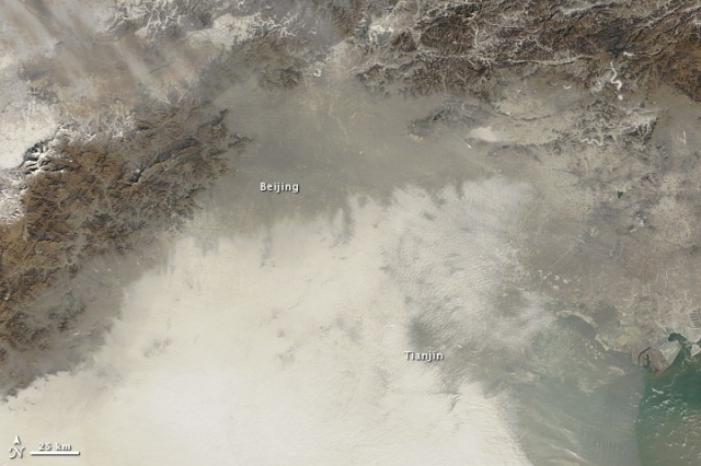 Chinese Air Pollution Expected to Cross Over to Western Japan