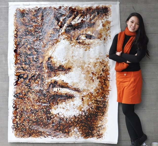 This Coffee Ring Portrait Will Blow Your Mind 【Video】