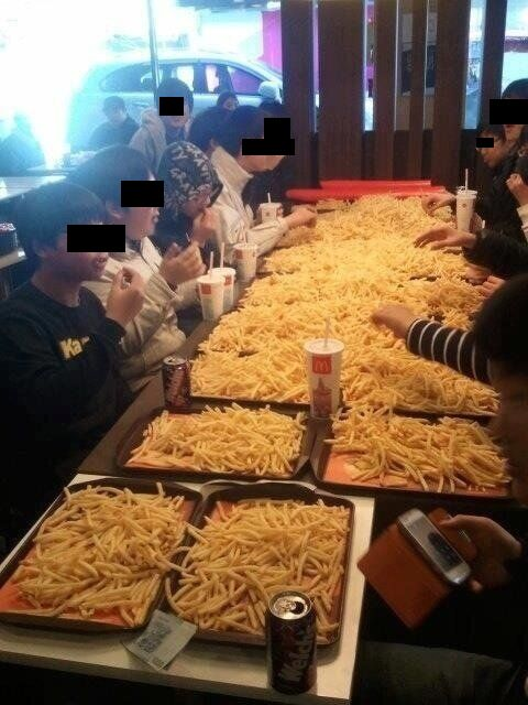 Kids in Korea Order $250 in French Fries, Piss Off Everyone at McDonald's and on the Internet