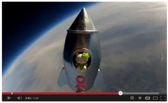 Where No Kitty Has Gone Before… Amazing Video From a Middle School Science Project