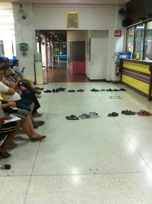 Too Tired to Stay on Your Feet? Why Not Wait in Line Like They Do in Thailand