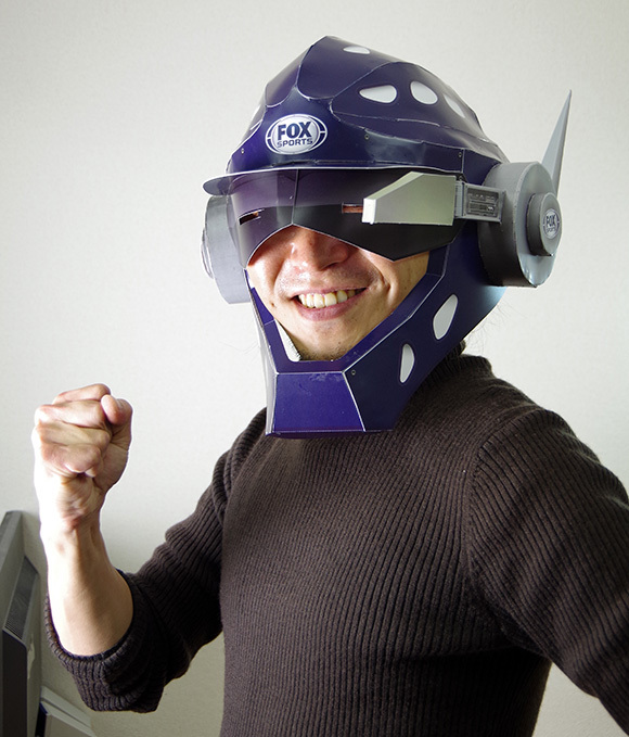 Fox Sports 'Foul Ball Armor' Papercraft Helmet Takes Five Hours to Build, Might be Effective at Your Little Brother's Wiffleball Game