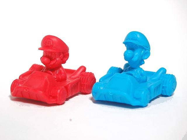 Burn Rubber with Competition-Spec Mario Kart Erasers