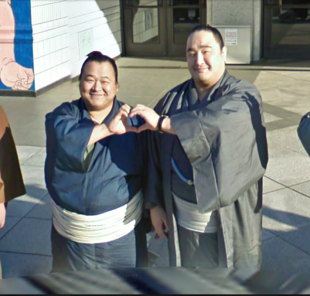Sumo Wrestlers Greet the World From Tokyo on Google Maps