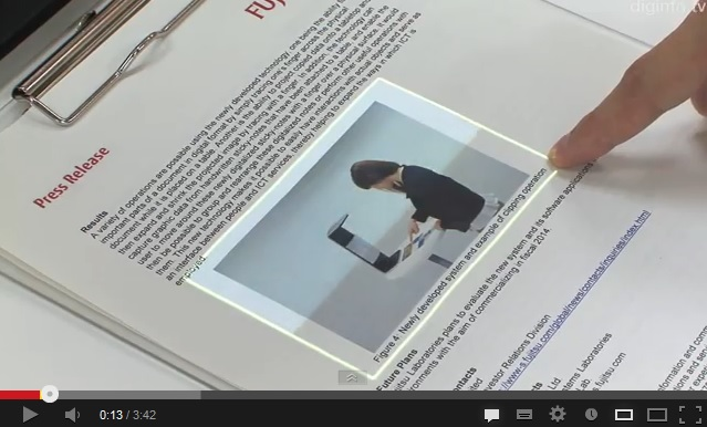 New Fujitsu Technology Lets Users Scan Objects and Manipulate Data with Their Bare Fingertips