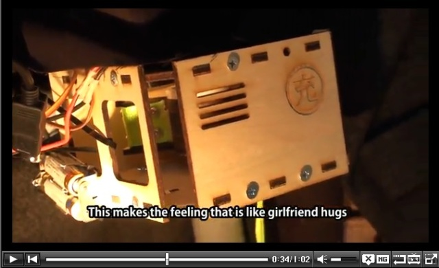 "Japanese Students Create Robotic ""Fulfillment Coat"" Which Simulates Hugs from Behind"