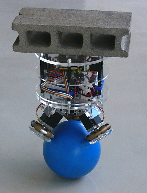 Students in Japan Create a Robot That Can Balance on a Ball