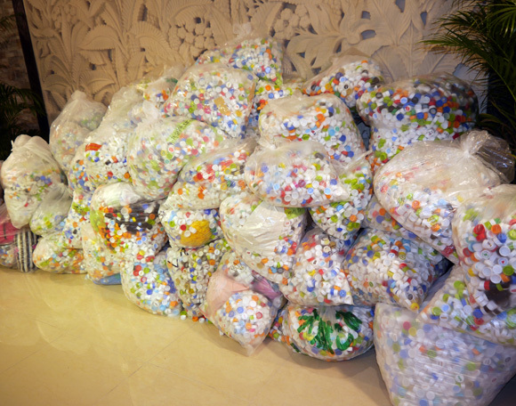 Future idols collect 100 million eco-friendly bottle caps in just two weeks in the quest for fame
