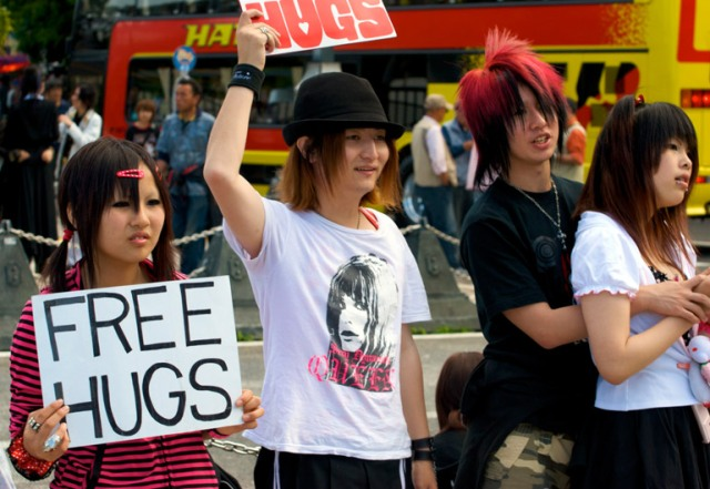 Free Hugs? Uhh…Okay, Says Japan