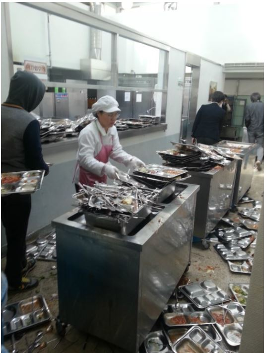 Korean High School Cafeteria Has a Bit of a Cleanup Problem