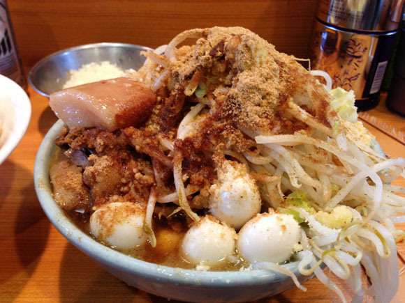 We devour a mountain of ramen (toppings)