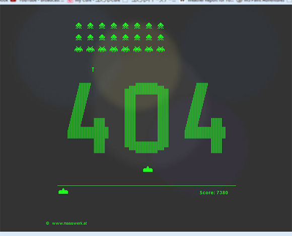 Fire away your frustration at '404 Not Found' — Site turns error message into classic arcade game
