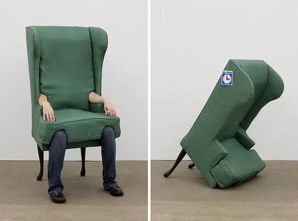 Human chair offers comfort and relaxation, if it doesn't run away from you first