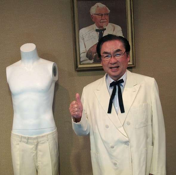 KFC Japan president buys and wears Colonel Sanders' signature suit, Reddit chicken enthusiasts not amused