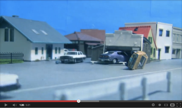 Stop motion car chase has all the thrills of a Hollywood action film