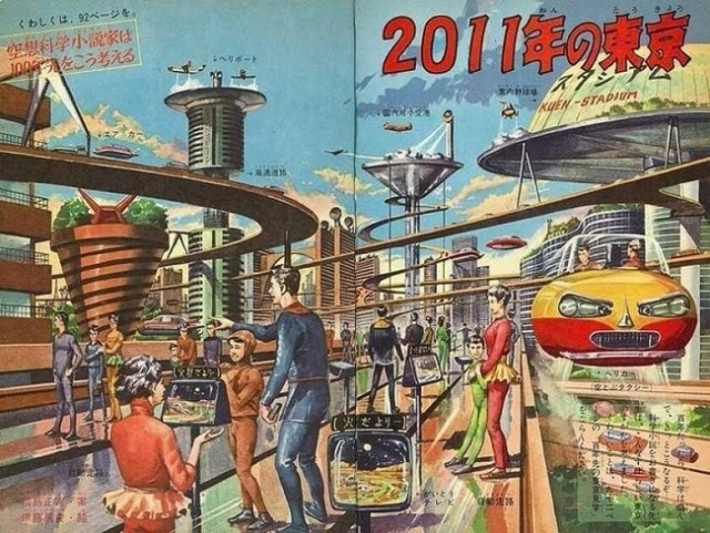 Showa Era newspaper's drawings of future Tokyo scarily accurate, hilariously off base