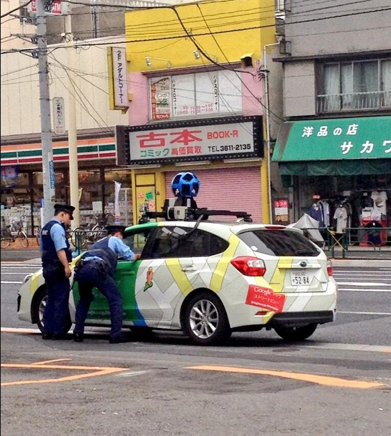 Police in Japan pull over Google Street View car, presumably not for speeding