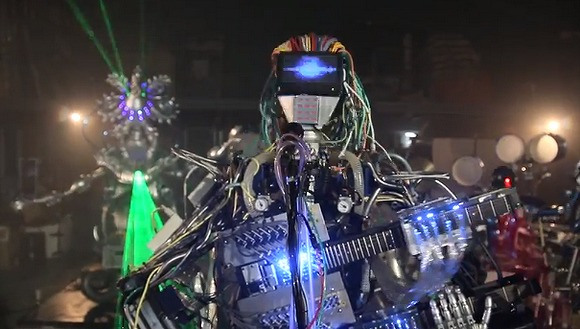 Yes, Zima's robot band will play metal and electronica, as long as you compose it for them